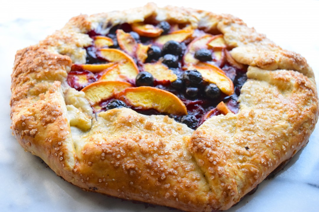 Blueberry Peach Galette Born And Bred In Brooklyn